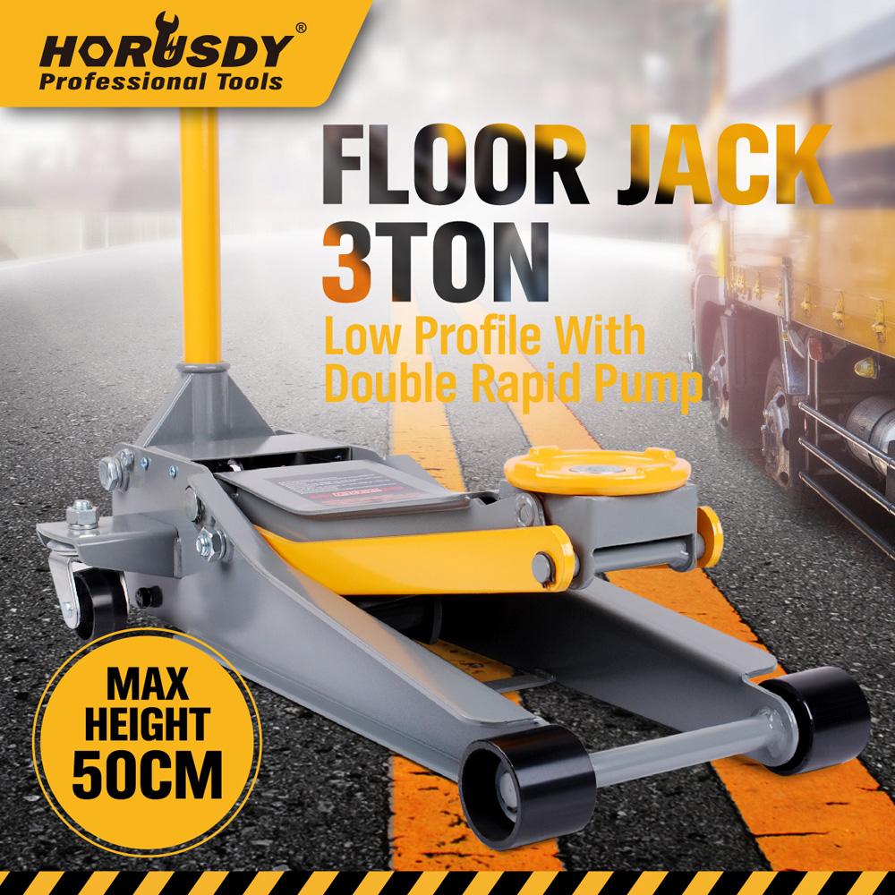 Australia Direct Mail 3 TON Super Low Profile Hydraulic Car Trolley Floor Jack Dual Pump Quick Lift 2t hand hydraulic car jack vertical automobile van suv hydraulic jack tire replace useful tool plastic case package light weight