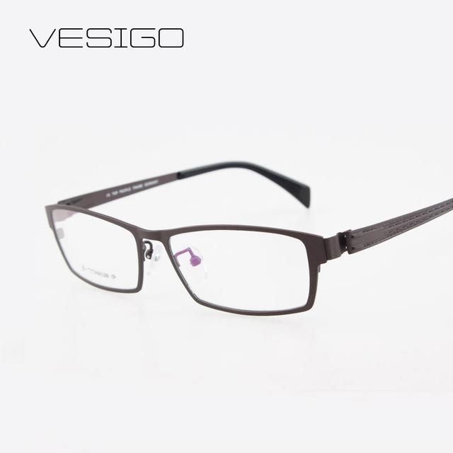 Ultra-light titanium enmarcan hombres miopía sin montura de gafas de lente óptica marcos de anteojos recetados t28