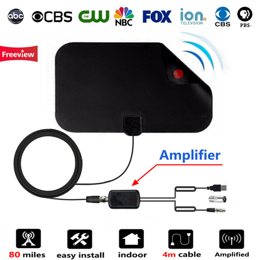 Indoor Digital TV Antenna with Signal Amplifier Booster for HDTV Cable TV Antena TV Radius Surf HD Fox DVB-T Antennas Freeview
