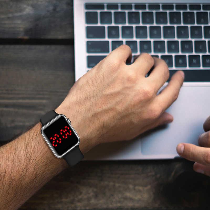 ผู้ชายกีฬานาฬิกา LED นาฬิกาดิจิตอลนาฬิกาผู้ชายนาฬิกานาฬิกาซิลิโคนอิเล็กทรอนิกส์นาฬิกาผู้ชายนาฬิกา reloj hombre hodinky relogio masculino