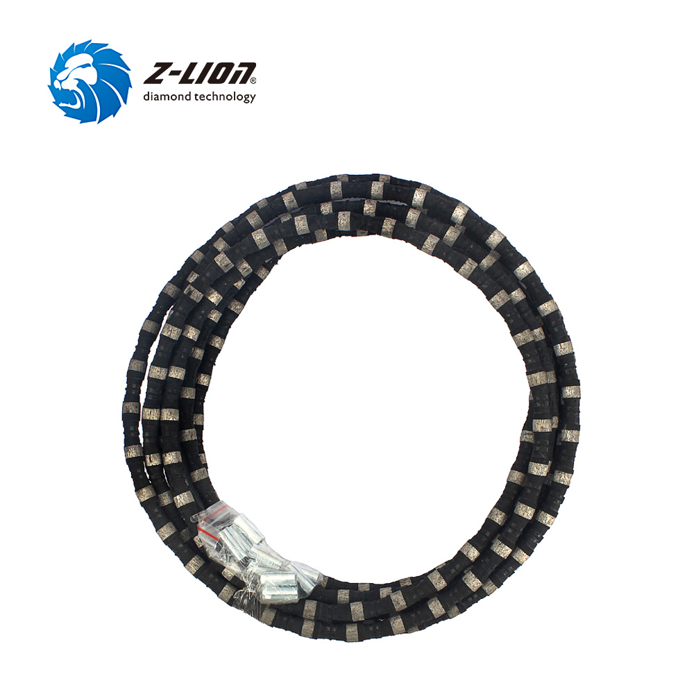 Z-LION Diamond Wire Saw Diameter 11mm Length 5 Meter Stone Cutting Saw Profiling And Squaring Abrasive Tool
