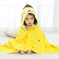 Cute Cartoon Pattern Children Bathrobe Autumn Long Sleeve Baby Pajamas Boys Girls Sleepwear Hooded Soft Kids