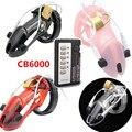 Nueva Llegada 4 Colores Descarga Eléctrica Terapia Médica Dispositivo de Castidad Cb6000s Cb6000 Jaula Del Martillo Del Pene Anillo de Bloqueo Juguetes para el Hombre G153