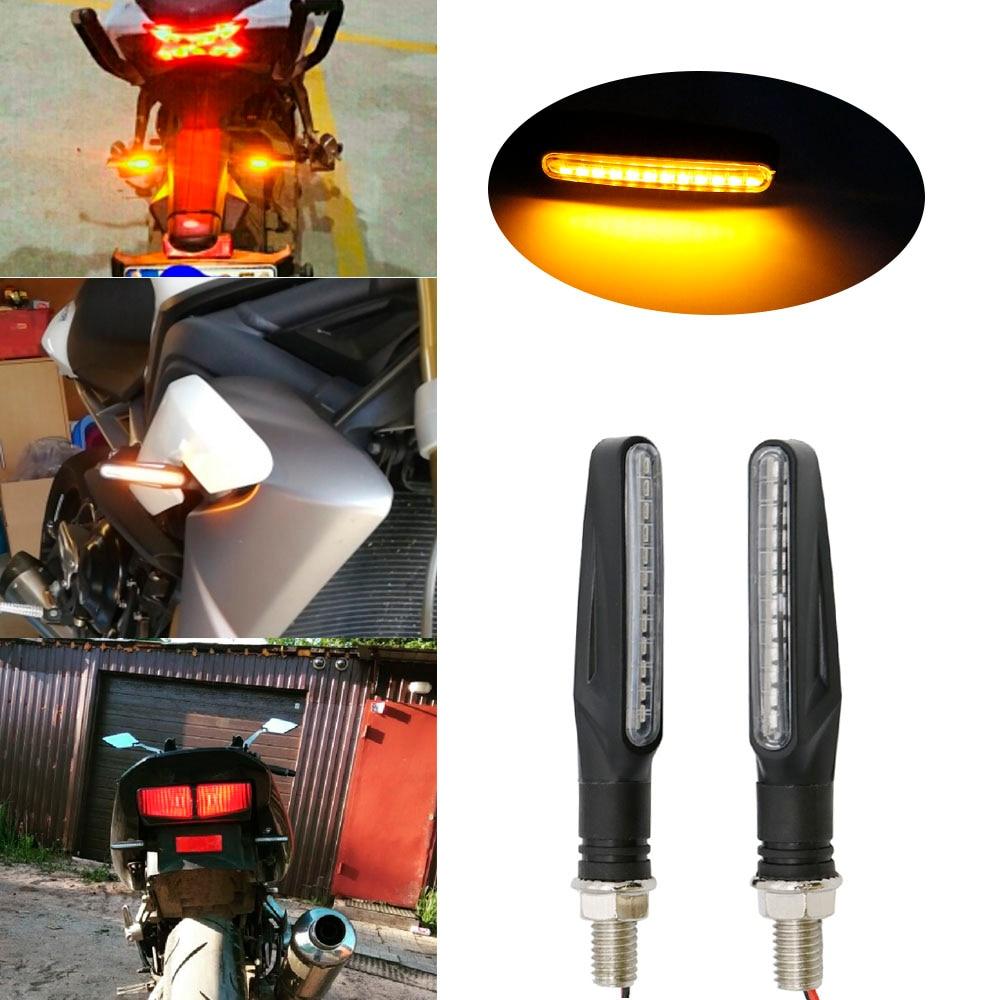 4x 12LED Motorcycle Motorbike Turn Signal Indicators Lights Lamp Amber Universal