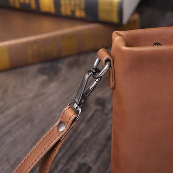 сотовый телефон кошелек | Новый бизнес Crazy Horse PU мягкая кожа молния день клатч сумка-конверт для мужчин T Мужская T сумка мужская сумочка клатч кошельки
