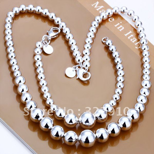 S080 Factory Price! Free shipping Wholesale silver plated set fashion jewelry sets
