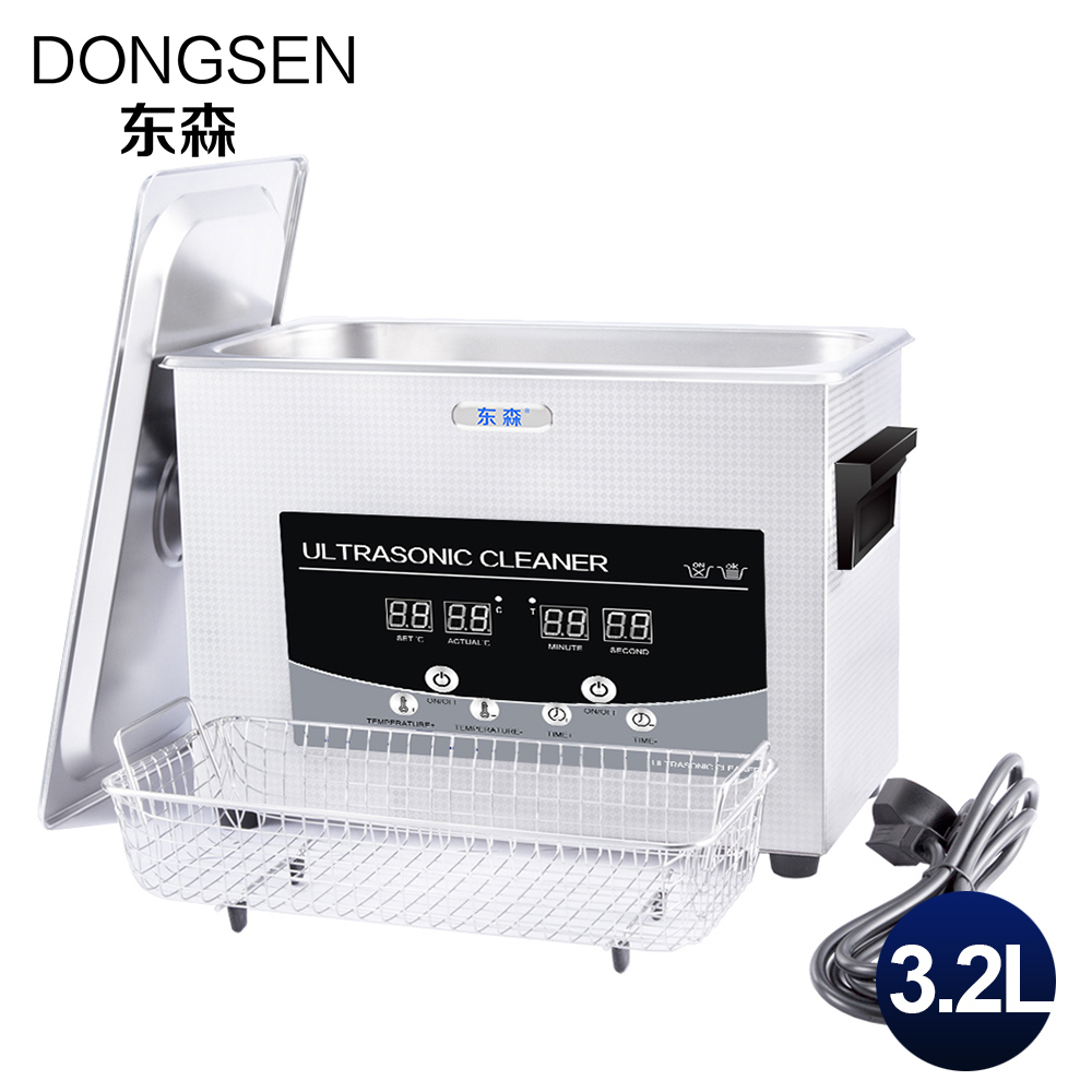 Ultrasonic Cleaning Machine 3.2L Fruit Vegetable Tableware Automatic PCB Parts Lab Instrument Motherboard Cleaner 3L Heater household cervical massage device neck multifunctional electric full body cushion car massage pillow for infrared heating