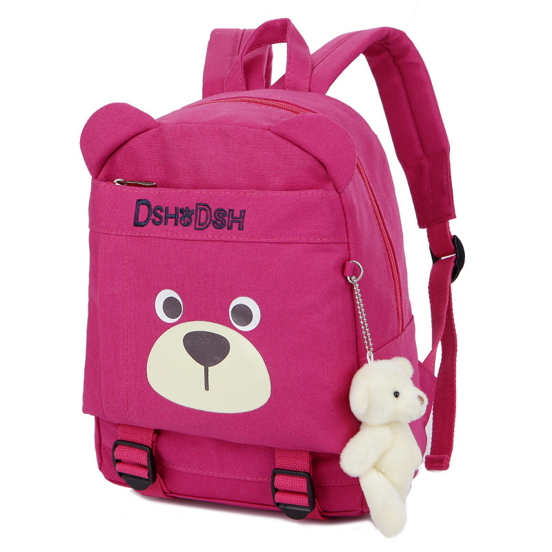 Children School Bags Cartoon Bear Backpack Baby Toddler Kids Book Bag Kindergarten Boy Girl Backpacking Big and Small 2 Set Bags