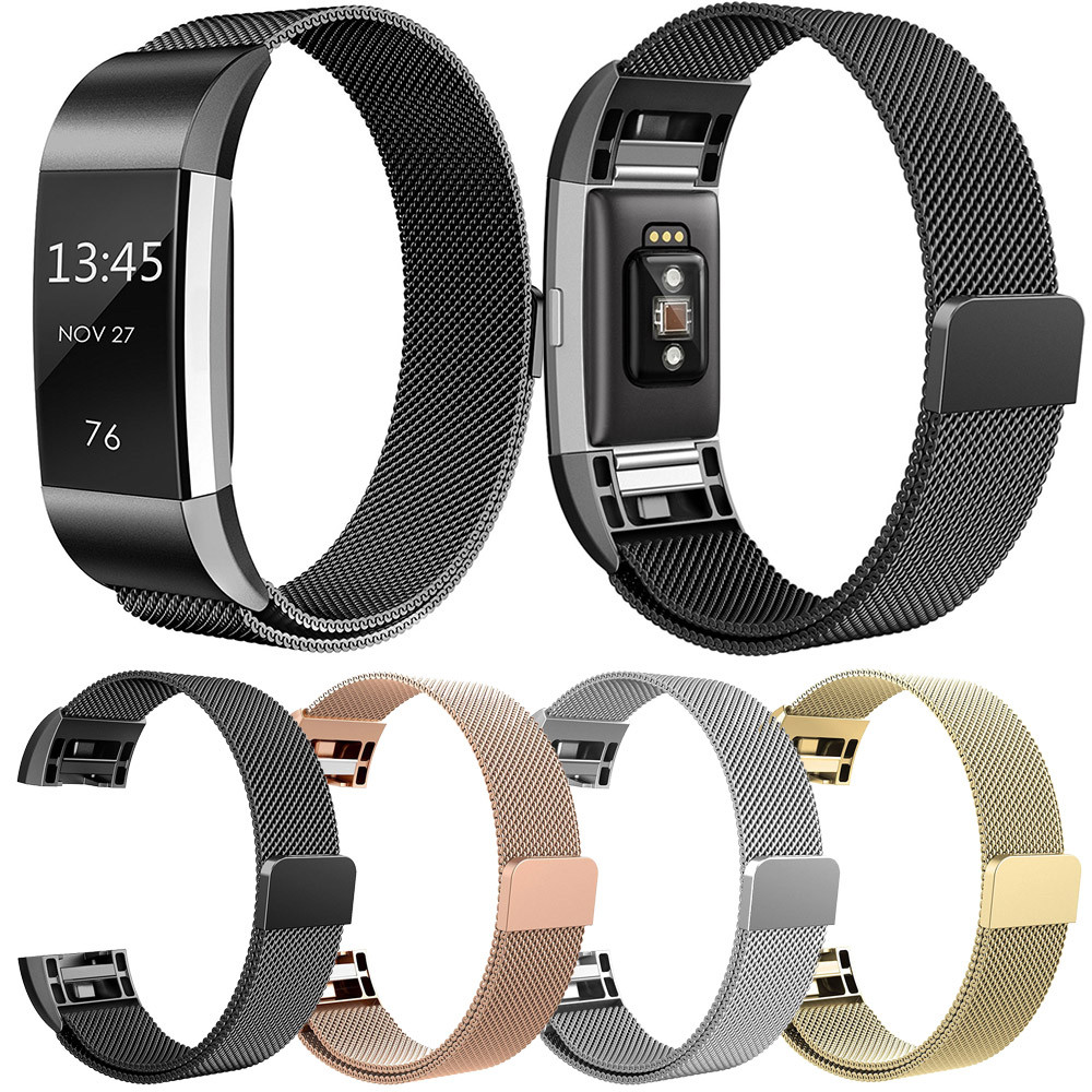 2018 Fashion Watch Band Milanese Stainless Steel Watch Band Strap Bracelet For Fitbit Charge 2 Correas de reloj watch accessory конверт детский altabebe altabebe конверт в коляску зимний north cape stroller синий