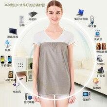 2ae112cc10b99 Radiation protection suit maternity dress pregnant women anti-radiation  apron full silver fiber clothes(