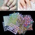 30 Листа Ногтей Красота Цветочный Дизайн Шаблоны Ногтей Наклейки Смешанные Наклейки Трансфер Маникюр Советы 3D Nail Art Украшения