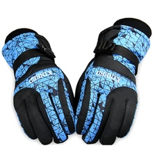 Men'S Women'S Skiing Snowboard Gloves Winter Outdoor keep warm Cold-proof Windproof Ski Gloves Male Ridding Mitten