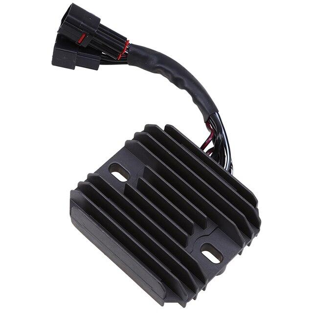 1X Black Aluminum Motocross Motorcycle Regulator Rectifier Voltage Cafe Racer For Suzuki GSXR 600 750