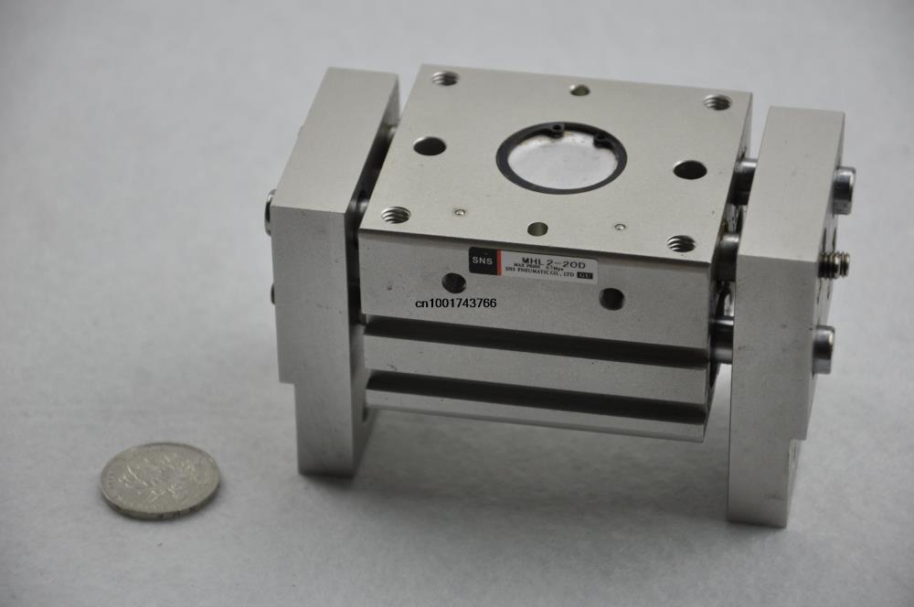 все цены на SMC type Wide Type Air Gripper MHL2-20D Cylinder bore size 20mm Long strokes SNS pneumatic cylinder finger air claw онлайн