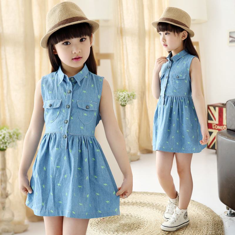 The New Sweet Child Dress Girls High Quality Wear Childrens Summer Wear Children