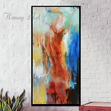 High Quality Hand-painted Wall Art Naked Oil Painting for Home Decoration Handmade Impressionist Nude Lady Body Oil Painting