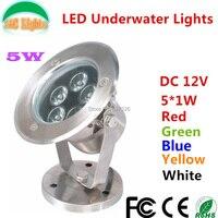 5 W LED luzes subaquáticas DC12V waterproof IP68 piscina fonte paisagem iluminação iluminação ao ar livre a