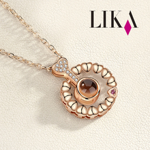 LIKA Wedding Jewelry Gift Necklace Jewelry Brass+Zircon Pendant Necklace Personalized Jewelry Necklace Customization