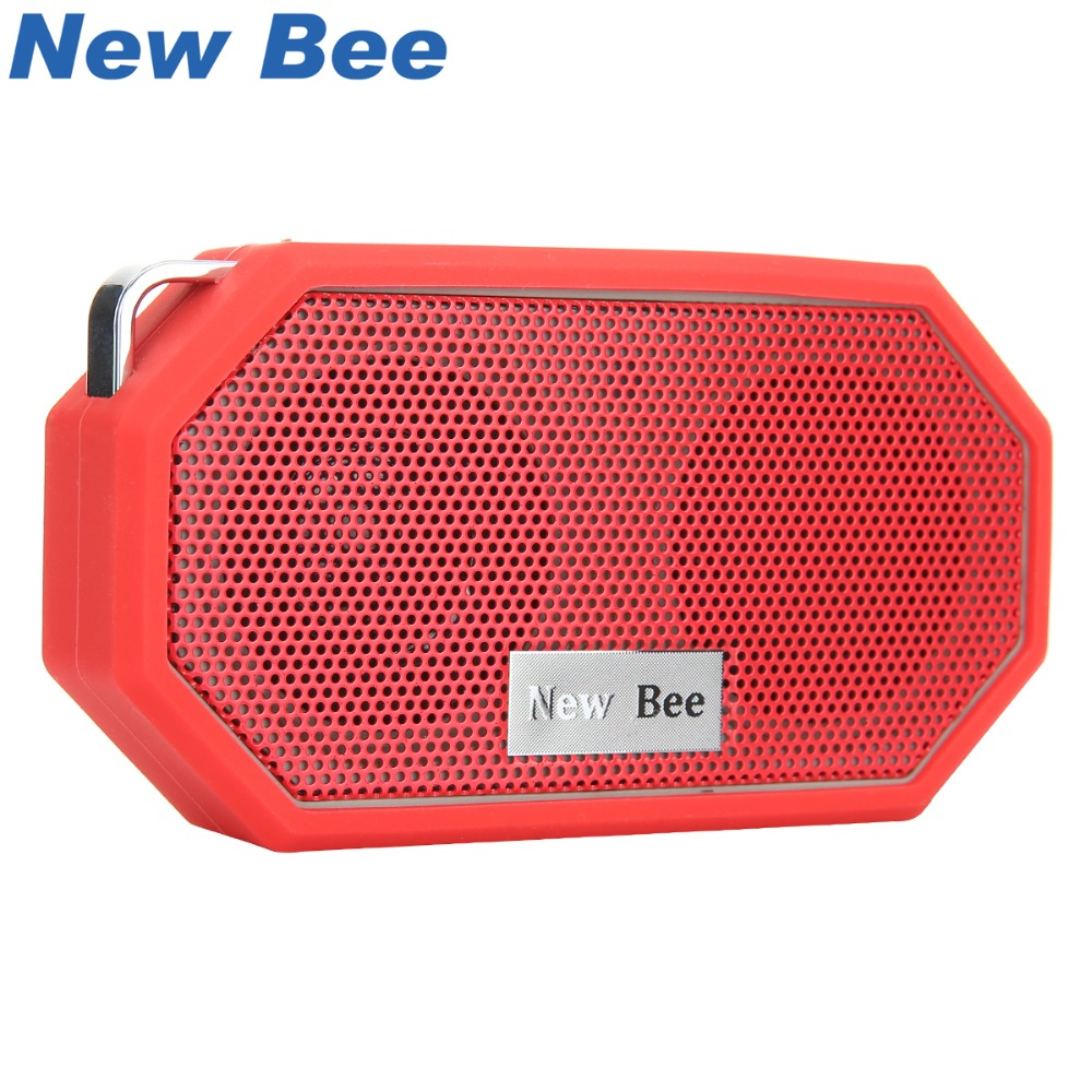 Baru Bee Portable Mini Wireless Bluetooth Speakers Waterproof subwoof Shower Outdoor Speaker Tangan-bebas dengan MIC untuk PC Telefon