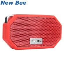 Новый Би Портативный мини Беспроводной Bluetooth Колонки Водонепроницаемый subwoof душ на открытом воздухе Динамик Hands-Free с микрофоном для телефона ПК