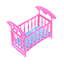 Baby Bed Super Cute Bed For Small Kelly Dolls For girl Dolls Girls Gift Favorite Design Toys Doll Accessories 2018 Newest(China)