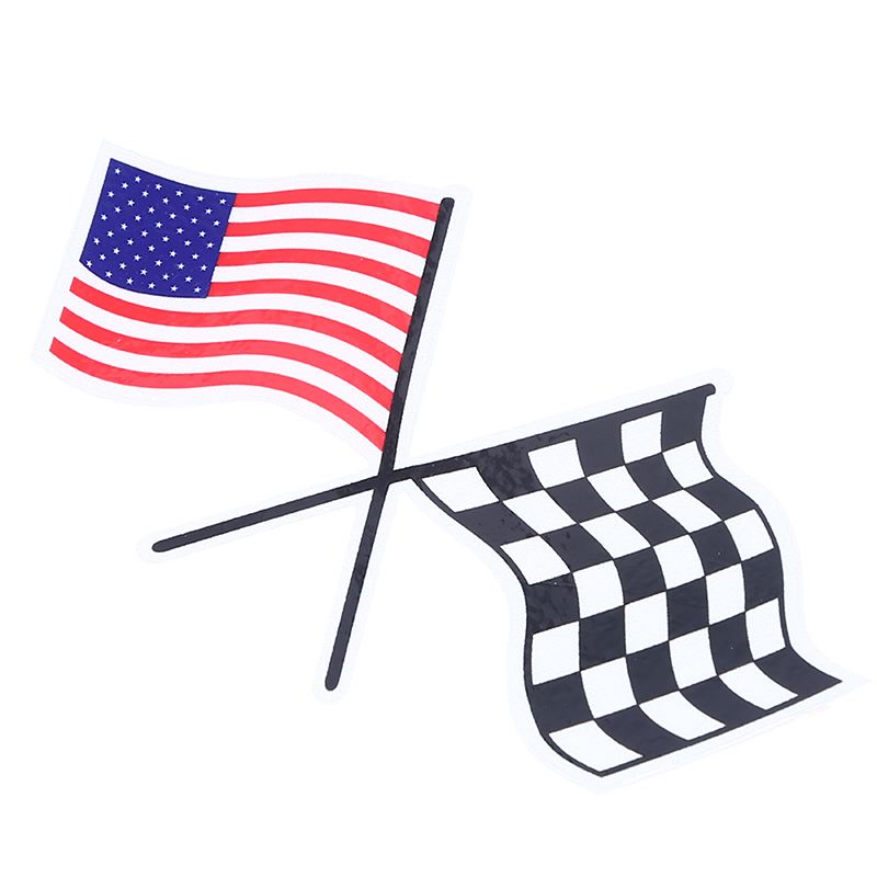 Usa american flag sticker car fender window door rear head decor sport racing flag styling motorcycle stickers and decals in car stickers from automobiles