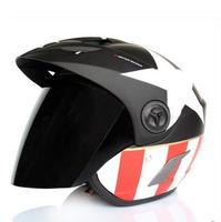 Half open gezicht motorhelm Captain America ontwerp automobiel motorrace helm Casco de la motocicleta