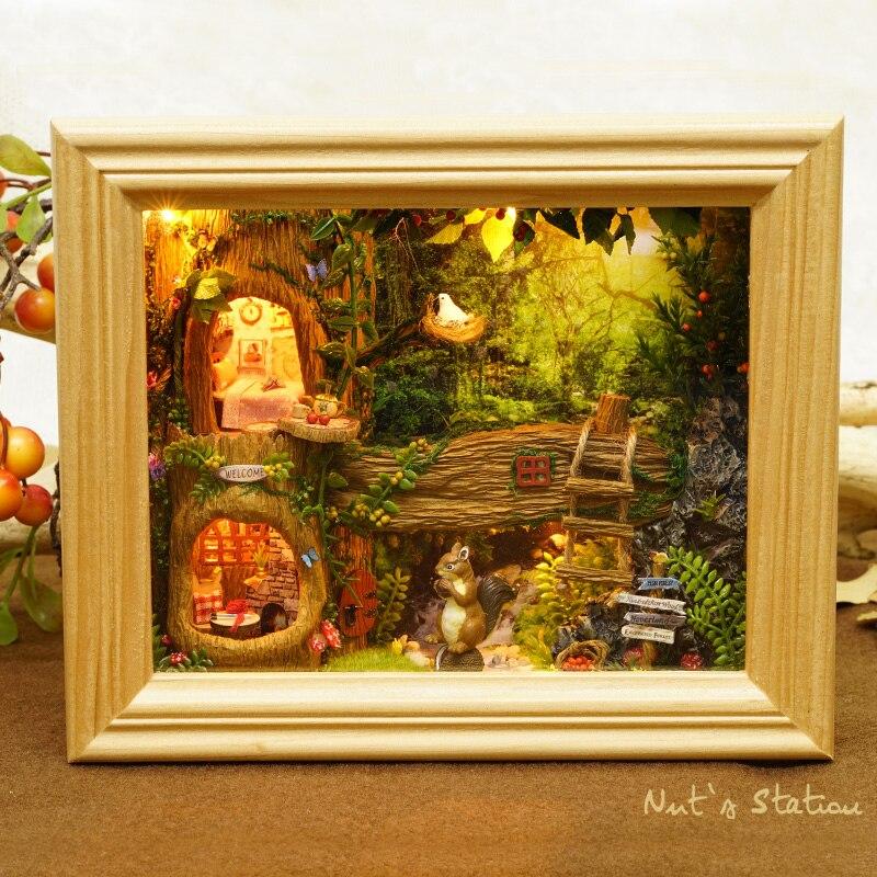 CUTE ROOM DIY Doll House Wooden Doll Houses Miniature dollhouse Furniture Kit font b Toys b