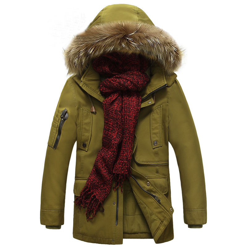 Hot selling men Winter coat brand-clothing thickening mens winter parka with fur hood warm winter jackets men chaqueta hombre high quality hooded long winter jacket men coat 2017 winter jackets mens parka with fur hood parka men hombre casaco masculino