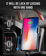 10w Qi Wireless Charger for IPhone X/XS Max XR 8Plus Fast Wireless Charging Pad for Samsung S8 S9+ Note9 8 Car Holder Charger