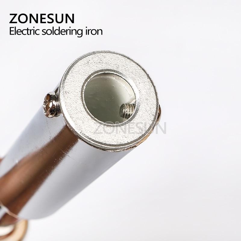 Tools : ZONESUN 150W Manual Stamping Machineleather cake branding machineWood markingembossing machineElectric soldering iron