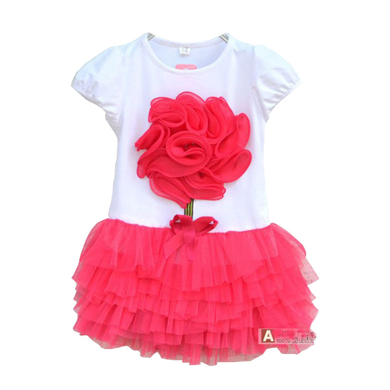 Keelorn Girls Dress 2017 New Casual Style Girls Dresses Kids Clothes Flower Princess Dress For Summer 2-4years Kids keelorn autumn girls dress 2017 new casual style girls clothes long sleeve striped mesh design dress for kids clothes 3 7y
