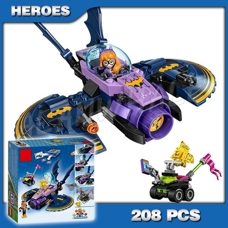 Model Building Forceful 208pcs Dc Super Hero Girls Batgirl Batjet Chase 10615 Model Building Blocks Assemble Bricks Children Toys Compatible With Lego Toys & Hobbies
