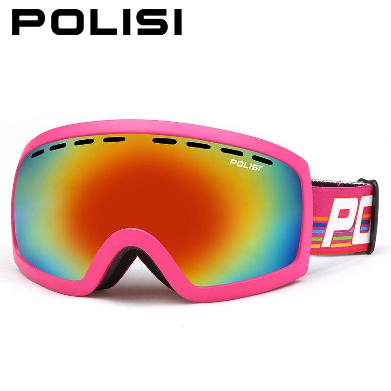 POLISI hommes femmes lunettes de Ski UV400 Double couche lentille Snowboard Ski lunettes hiver neige Ski planche à roulettes lunettes de protection