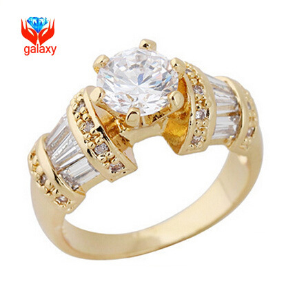 Yhamni Luxury 24k Gold Color 1 Carat Cz Diamant