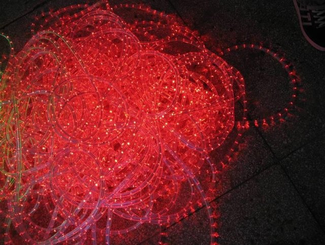 100m/roll LED 2 wires round rope light;36leds/m;13mm diameter;DC12V/24V/AC110/220V are optional;pink color
