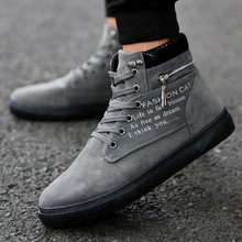 Spring Autumn Men Casual Boots High Top Shoes Fashion Style Trend Sueder Buckle Boot Man Top Rubber Flat With Youth Shoes new men casual boots breathable high top lace up shoes style fashion trend suede flat boots breathable rubber youth shoes