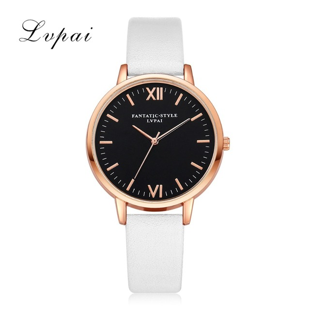 2017 Rose Gold Lvpai Brand Leather Watch Luxury Classic Wrist Watch Fashion Casual Simple Quartz Wristwatch Clock Women Watches 2