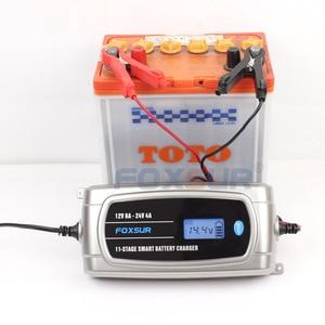Image 4 - FOXSUR 12V 8A 24V 4A 11 stage Smart Battery Charger, 12V 24V EFB GEL AGM WET Car Battery Charger with LCD display & Desulfator