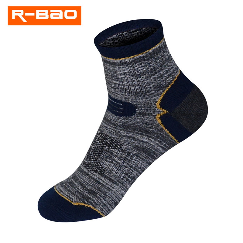 R-BAO 1 Pair Summer Cotton Outdoor Climbing Fishing Camping Hiking Socks Quick-dry Ankle Protector Sports Socks For Women Men