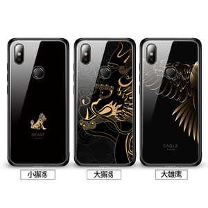 Image 5 - Tempered Glass Phone Case For Xiaomi Redmi Note 7 Pro Xiaomi Mi 8 Mi8 Lite Mix 2 2s Mix 3 Case Luxury Aixuan Cover