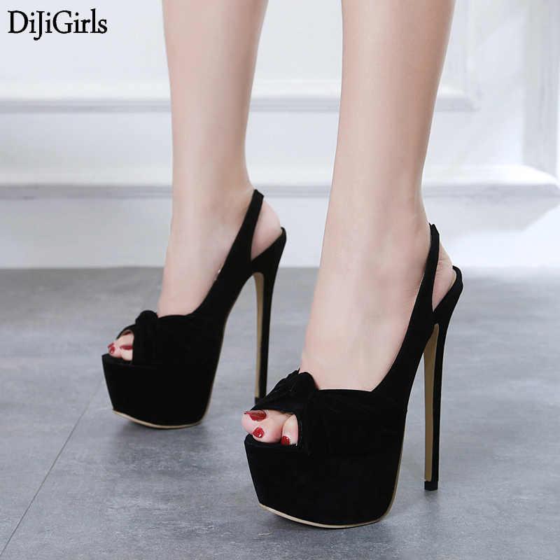 black platform slingback heels