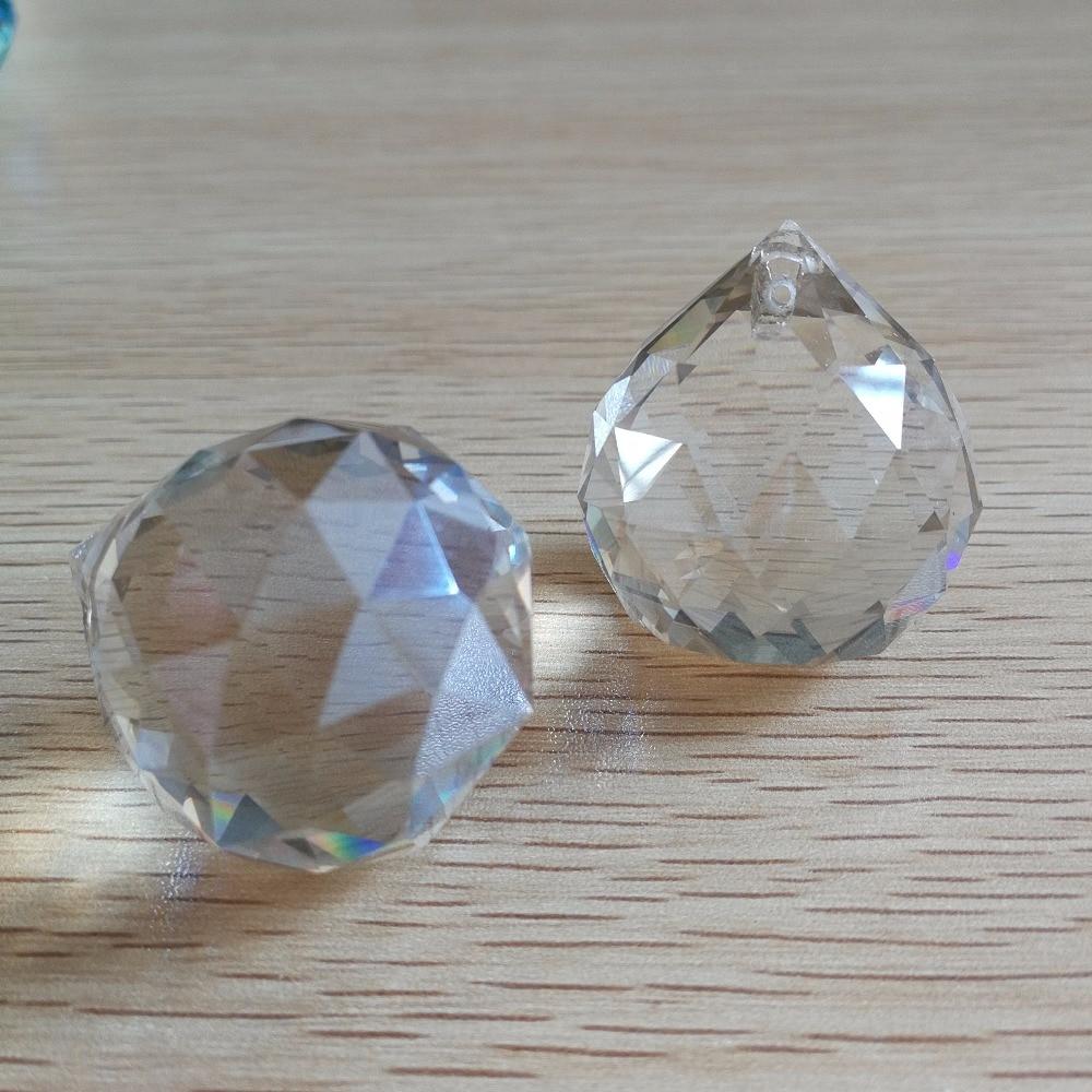 10 pieces 30mm Cognac crystal chandelier balls glass lighting pendants feng shui ball Glass prism