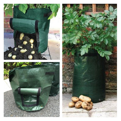 3 pieces potato vegetable cultivationplanting bags pe bags for Gardeners supply planters