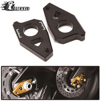 Motorcycle Tensioners Catena rear axle spindle chain adjuster For Yamaha TMAX 530 2012 2015 FZ8 2012 FZ1 2006 2015 YZF R1 2005