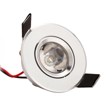 MINI 1W 3W high power Recessed Led Downlight Cabinet Light AC85v- 260v 110-240LM with LED Driver