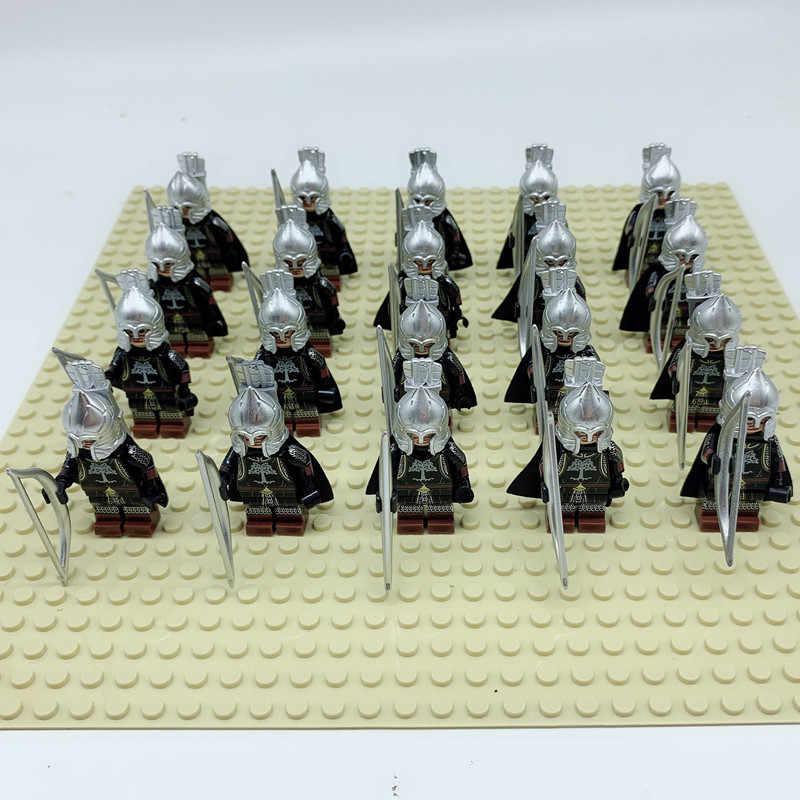 20 шт. Uruk Ha Властелин колец фигурка солдат Гондора рыцарь копье меч строительные блоки кирпичи игрушки