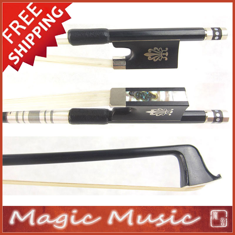 Free Shipping Carbon Fibre Violin Bow with Phoenix Inlaid Ebony Frogs Size 4 4 Quick Response