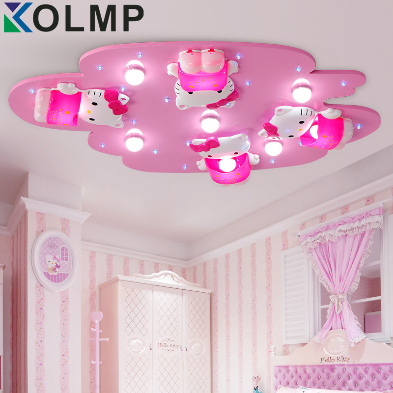 Buy Hello Kitty Lovely Girls Bedroom Ceiling Lights Pink Color Cute Girl Room