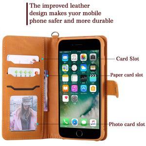 Image 4 - Funda abatible de cuero desmontable para iPhone, protector con imán para teléfono móvil iPhone 11 Pro 8 Plus 7Plus XS XR X